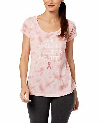 Ideology Breast Cancer Research Foundation Printed T-Shirt (Parfait Pink, Large) Foundation Fitted T-shirt