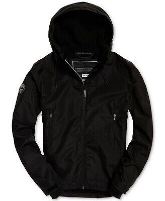 Superdry Men's Arctic Elite SD Full Zip Windbreaker Jacket Black 2XL NEW $195