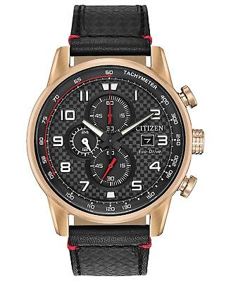 Citizen Eco-Drive Men's Rose Gold Tone Chronograph 45mm Watch CA0683-08E