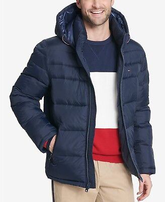 Tommy Hilfiger Men's Quilted Puffer Jacket Coat Midnight L Pre-Black Friday](puffer jacket black friday)