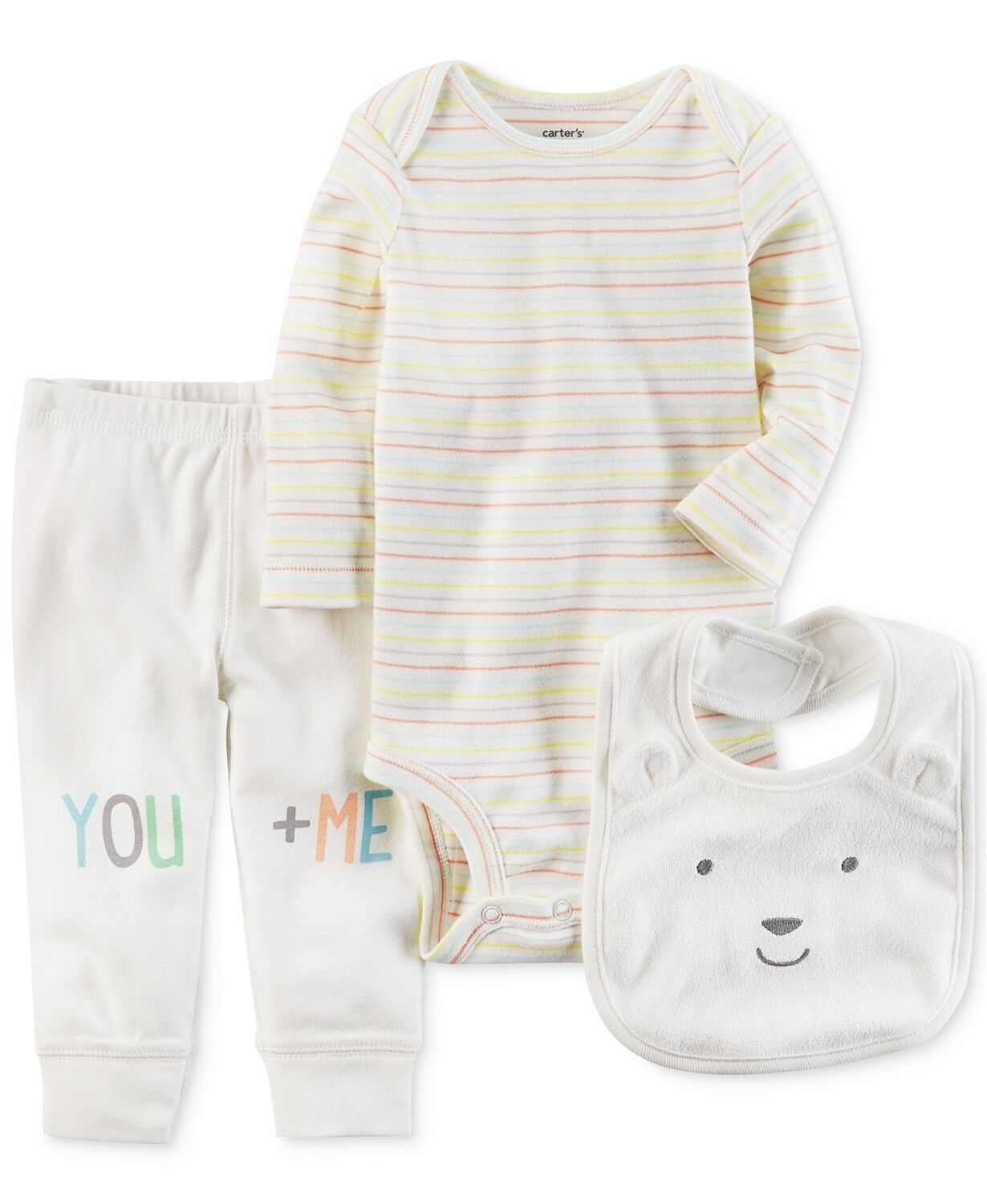 Carters Baby Girls 3-pc. You & Me Layette Set New