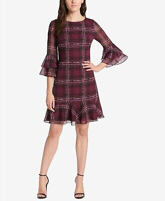 Jessica Howard Plaid Ruffled A-Line Dress MSRP $89 Size 10 # 12A 73 NEW   ](Dresses Size 10 12)