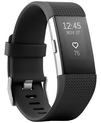 Fitbit Charge 2 Activity Tracker + Heart Rate, Large - Black / Silver