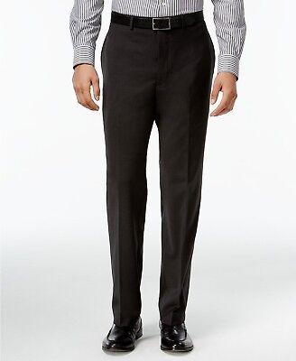 $169 CALVIN KLEIN Men's Gray Extreme Slim Fit FLAT FRONT DRESS PANTS 36 W 30 L
