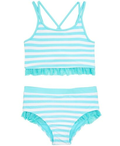 Ideology Toddler Girls 2-Pc. Striped Tankini size 4T  MSRP $34.50