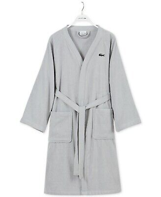 Lacoste One Size Pique Bath Robe Embroidered Cotton i156