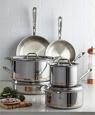 All-Clad Copper Core Stainless 10-Pc Cookware Set Pan Pots NEW $1,725 USA - All Clad Copper Cookware