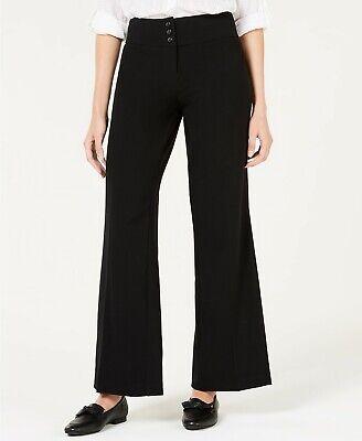 Style & Co Womens Pants Wide Leg Stretch Pant Deep Black Size -