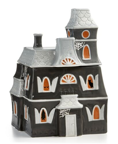 Large Spooky Halloween Martha Stewart Collection Haunted House Cookie Jar New