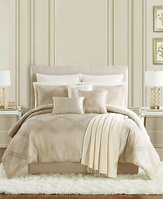 Pem America Luxembourg 13 Piece QUEEN Comforter Set GOLD Bedding Ensemble I1131