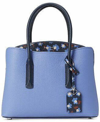 Kate Spade Margaux Party Floral Medium Satchel Crossbody Bag  Blue Multi $298