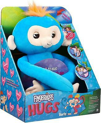 Fingerlings HUGS BORIS Friendly Interactive Plush Monkey Toy WowWee