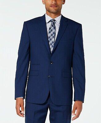 $890 VINCE CAMUTO Men 42R BLUE SOLID Slim Fit Wool SUIT JACKET SPORT COAT BLAZER