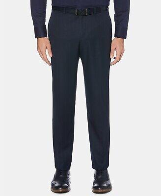 $95 Perry Ellis Portfolio Modern-Fit Performance Blue Dress Pants 34 x 32