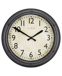 La Crosse Clock 404-2630 12 Hudson Analog Quartz Clock
