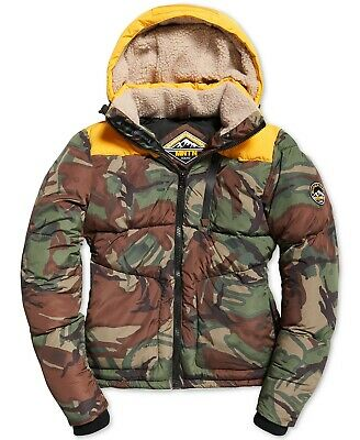 Superdry Men's Winter Expedition Puffer Coat Jacket Army Print. Pick Size