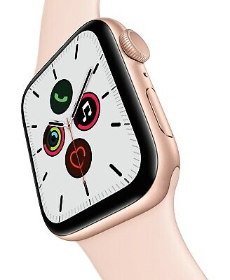 Apple Watch Series 5 (GPS) 44mm Gold Aluminum Case with Pink Sand Sport Band