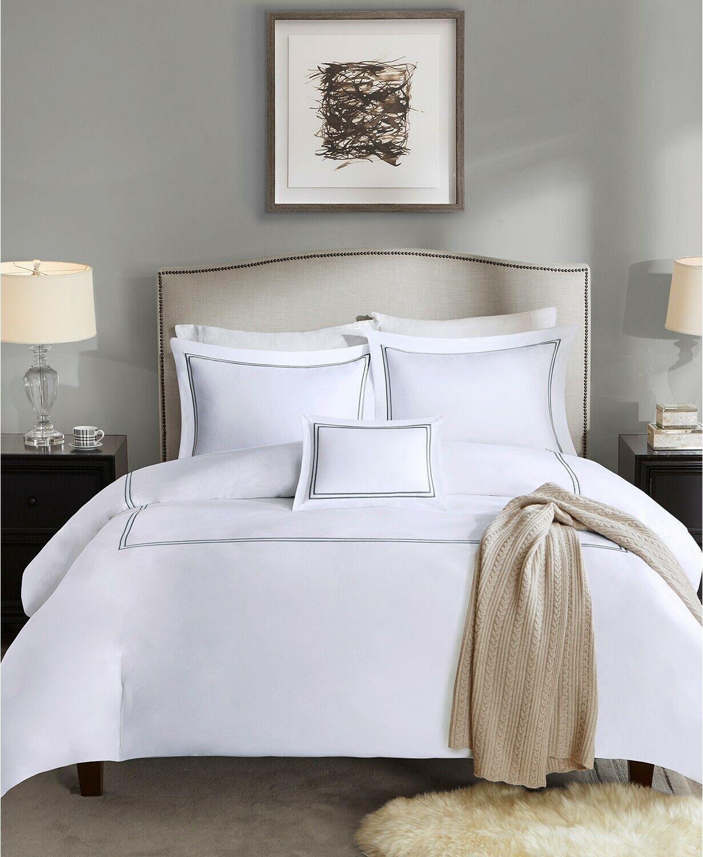 5 Piece Comforter Set, Full / Queen, Grey