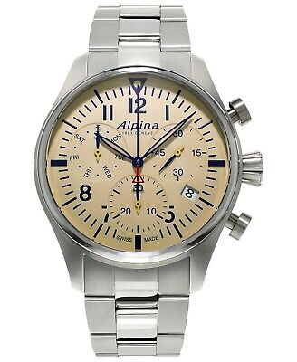 Alpina Startimer Pilot Quartz Chronograph Stainless Men's Watch AL-371BG4S6B