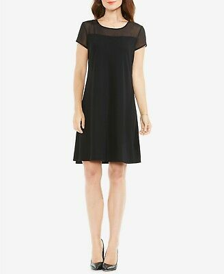 Panel Shift Dress - Vince Camuto Sheer Panel Shift Dress MSRP $99 Size S # 8A 796 Blm