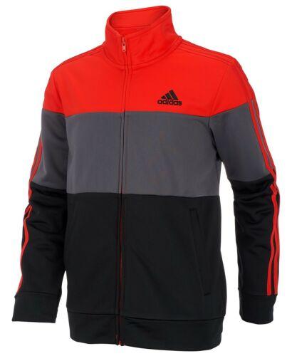 NWT adidas Boys Colorblock Tricot Jacket AP5451 [soccer training running school]