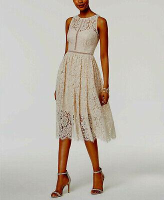 Adrianna Papell Lace Tea-Length Dress MSRP $199 Size 12 # 14A 545 N Lace Tea Dress