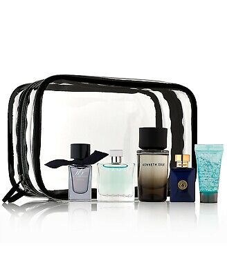 New Men's 5 Piece Cologne Gift Set Versace Burberry Azzaro Kenneth Cole -