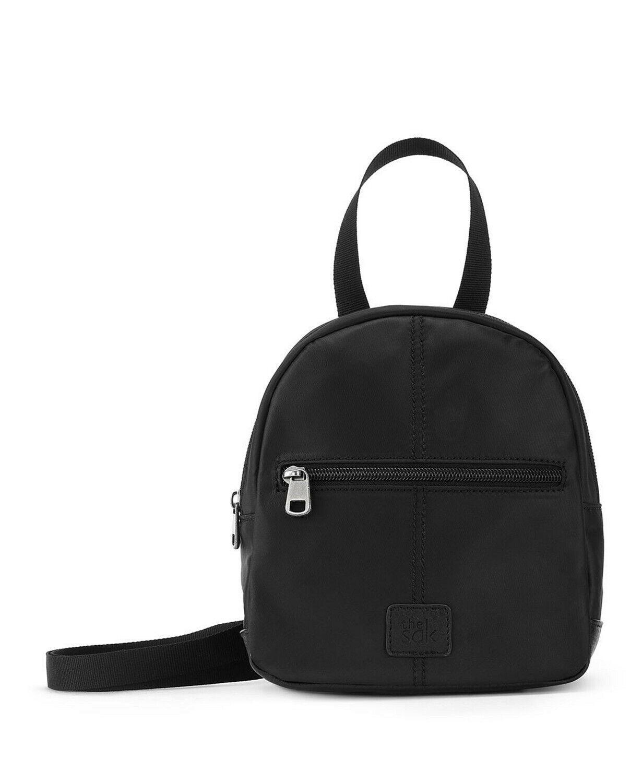 esperato nylon mini backpack crossbody olive style