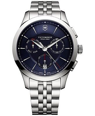 *BRAND NEW* Victorinox  Swiss Army Men's Chronograph Alliance Steel Watch 241746
