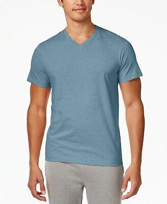 $75 Alfani Men's Blue V-Neck Cotton Short Sleeve Undershirt T-Shirt Size (Short Sleeve V-neck Undershirt)
