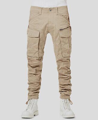 $383 G-Star Raw Men's 29W 32L Beige Rovic Stretch Slim-Fit Tapered Cargo Pants