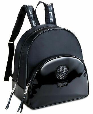 NEW Versace Black Luxury Medusa Design Backpack / Rucksack