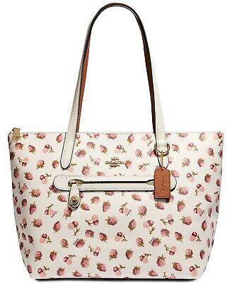 NEW  COACH Fruit Print Taylor Shopper Travel Tote Bag Handbag