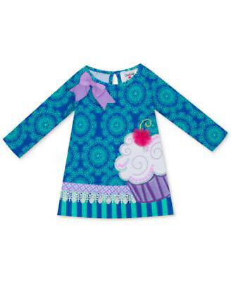NEW Rare Editions Baby Girls Printed Cupcake Dress, Multiple Sizes