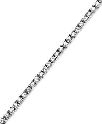 """Sale! 16"""" 42.00-CTTW Cubic Zirconia CZ Tennis Necklace - White Gold ep"""