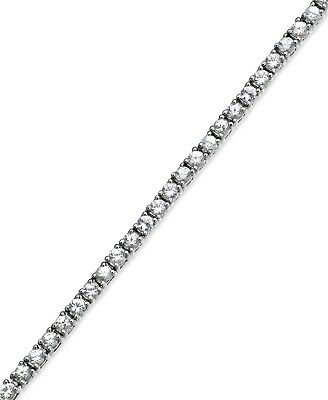 14k White Gold Plated Cz Hand Setting Stones 1 Row 3mm Tennis Choker Necklace