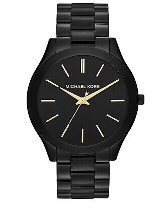 Michael Kors Unisex slim runway mk3221 Black tone Watch