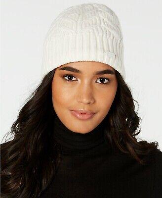Under Armour Women's Around Town Beanie Hat Ivory White