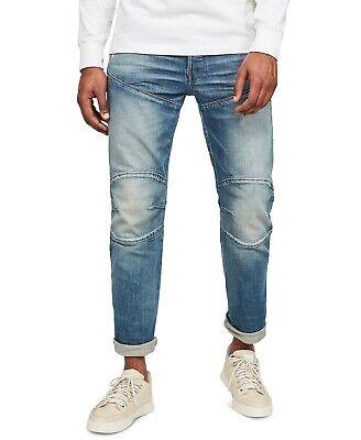 G-Star Raw Mens Rust Splatter Elwood 5620 3D Straight Jeans Blue 34x30