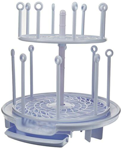 Spin Stack Drying Rack Dry Baby Bottles Pacifiers Teethers Two Adjustable New