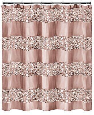 """Popular Bath Sinatra Blush Bath Accessories Shower Curtain - 70"""" W x 72"""" L"""