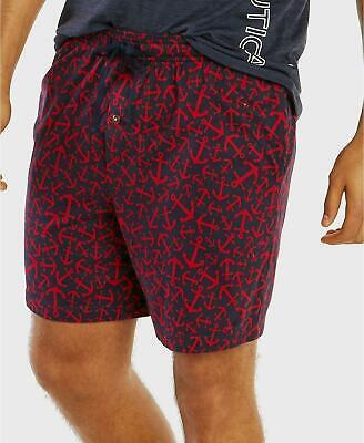 Nautica Men's Anchor-Print Stretch Pajama Shorts, Large