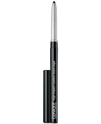 Lot of 2: Clinique High Impact Custom Black Kajal 01 Blackened Black~travel size for sale  Shipping to India
