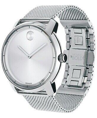 Movado Unisex Swiss Bold Stainless Steel Mesh Bracelet Watch 44mm 3600260 $495 (Movado Sports Bracelet)