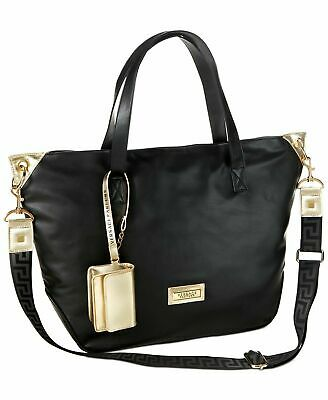 Versace Womens Tote Large Bag Black/Gold Handbag Purse Versace Perfume Duffle