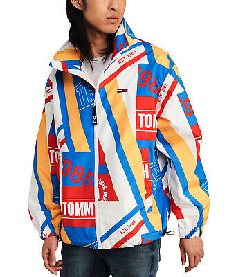 Tommy Hilfiger Denim Men's Multicolor Graphic Lightweight Windbreaker Jacket