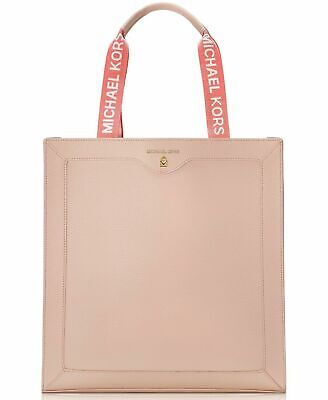 Michael Kors Fragrances Tote Bag purse shopper Large blush Tan Pink faux -