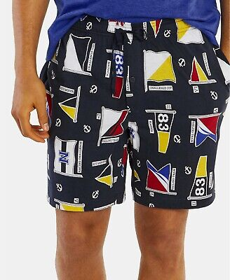 Nautica Men's Printed Cotton Pajama Shorts, Size XL, MSRP $34