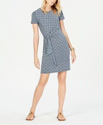 MICHAEL Michael Kors Printed Tie-Waist Dress MSRP $98 Size M # 21B 143 NEW