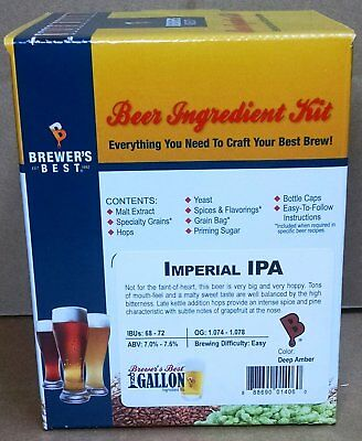 $24.99 - Brewer's Best Imperial IPA One Gallon Home Brew Beer Making Ingredient Kit
